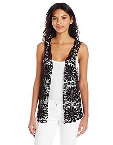 - Betsey Johnson Women's Daisy Vest, black, One Size