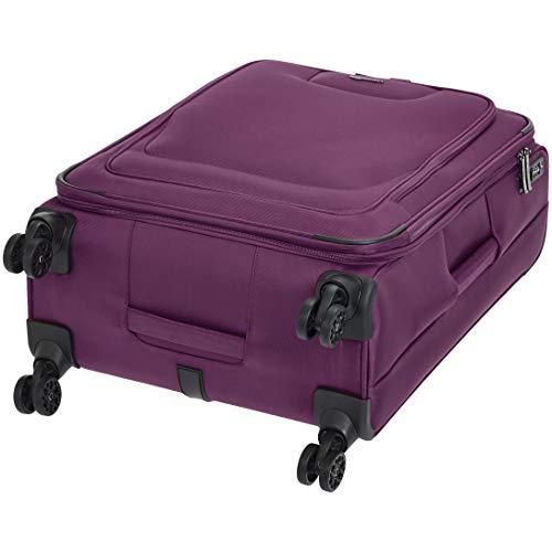 AmazonBasics Premium Expandable Softside Spinner Luggage With TSA Lock- 25 Inch, Purple by AmazonBasics (Image #6)