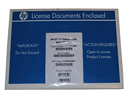 512485-B21 HP ILO ADVANCED INCLUDING 1YR 24X7: Amazon ca: Electronics
