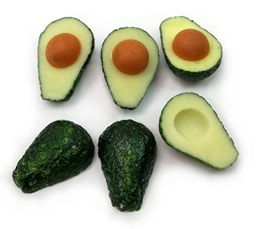 Unbranded 6 pcs Dollhouse Miniature Accessories Fruit Half Avocados from Unbranded