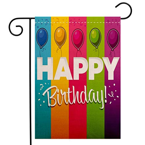 BEIVIVI Custom Double Sided Seasonal Garden Flag Birthday