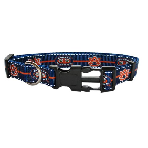 Pet Goods Small Collegiate  5/8-Inch by 10-Inch - 14-Inch  Dog Collar, Auburn University