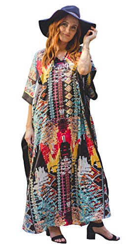 Winlar Native Print - Colorful Caftan -