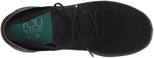 Skechers Damen You-spirit Slip On Sneaker Schwarz (black Bbk)