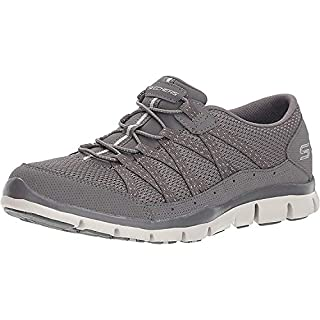 Skechers Women's Gratis-Strolling Sneaker, Grey, 8 Wide