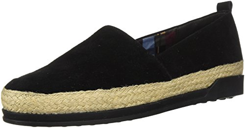 Blondo Women's Bailey Waterproof Loafer Flat, Black Suede, 5.5 M US