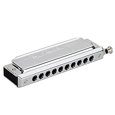 Harmonica, Mugig Professional Harmonica, Standard Diatonic 10 Hole with 1.2mm Plate Structure, Suitable for Any Occasion, like Blues, Folk, Jazz and Pop, Key of C