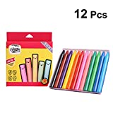 YeahiBaby Non Toxic Crayons Silk Washable Large Crayons Safe for Baby Kids Painting 12 Colors