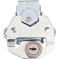 Southco K5-2813-07 Link Lock Draw Latch, Large Size, Key Lockable, Steel, Bright