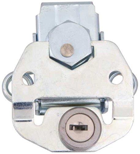Southco K5-2813-07 Link Lock Draw Latch, Large Size, Key Lockable, Steel, Bright