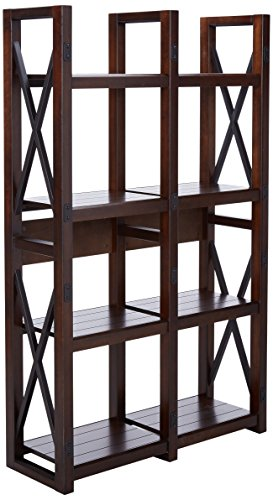 Ameriwood Home Wildwood Wood Veneer Bookcase Room Divider, Espresso