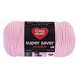 Red Heart Super Saver Jumbo Yarn, Petal Pink