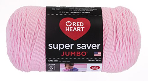 Fun Easter Basket Crochet Patterns - Free & Paid - Red Heart Super Saver Jumbo Yarn, Petal Pink