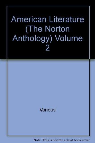 American Literature (The Norton Anthology) Volume 2