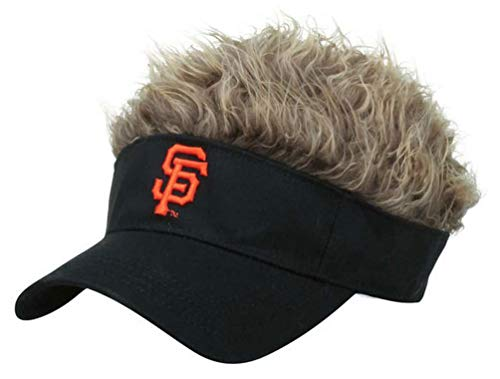 MLB San Francisco Giants Flair Hair Adjustable Visor, Black ()
