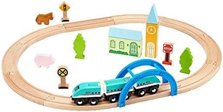 はじめての木製電車セット(E5系新幹線はやぶさ3両付き)