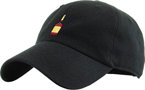 d5862d55 KBSV-038 BLK Henny Bottle Dad Hat Baseball Cap Polo Style Adjustable