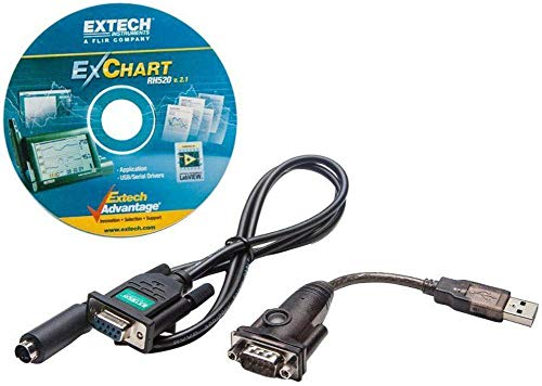 Extech SW520 Software and Cable Kit For Extech RH520A Humidity and Temperature Chart Recorder