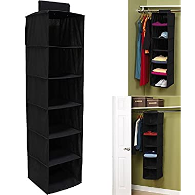 Decor Hut 6 compartment hanging shelf organizer, non woven fabric, antibacterial, deodorization