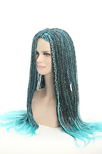 Weave Wigs - Blue Black Braids Ombre Cosplay Wig Halloween Wig for (Ursula Hair For Halloween)