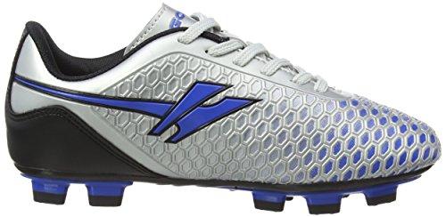 Gola Ion Blade, Botas de Fútbol para Chico Plateado (Silver/Blue)