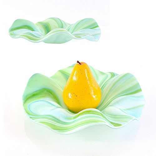 Art Glass Candy Dish - Contemporary Glass Art Sculpted Candy Dish Coffee Table Decor
