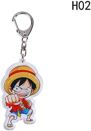 Amazon.com : AUDTEE Cartoon One Piece Acrylic Keychain Luffy ...