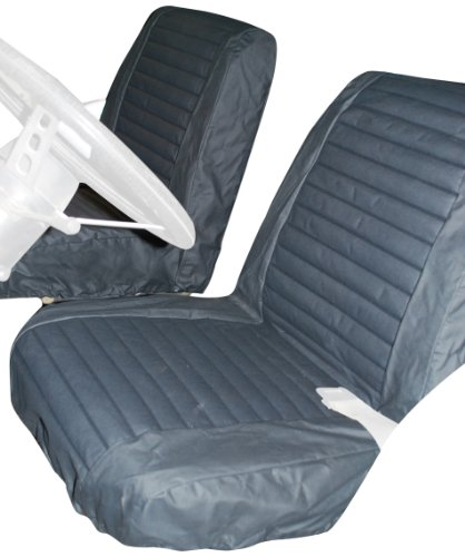 Bestop 29225-15 Black Denim Front Low Back Bucket Seat Cover Set for 1965-1979 CJ5 & 1976-1980 CJ7 (sold as pair)
