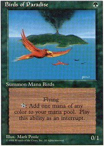 Magic: the Gathering - Birds of Paradise - Fourth Edition