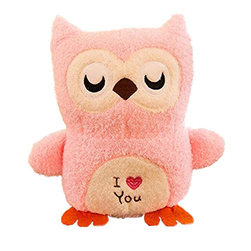 JELLY SIGHT 8 Inch Owl Plush Doll Stuffed 3D Animal Zoo Pet, Bed Pillow Decoration Baby Play Toy Gift for Girls, Boys ()