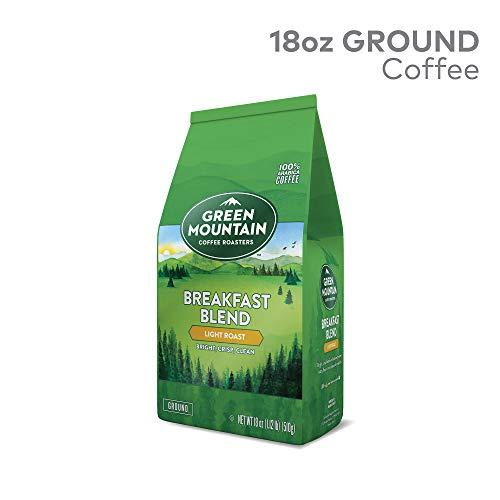 GMCR7 Green Mountain Coffee Roasters Breakfast Blend Ground Coffee, Light Roast, 18 oz ()