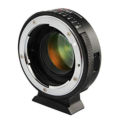Viltrox NF-M43X Manual Focus 0.71x Reducer Speed Booster Lens Mount Adapter w/Aperture Control for Nikon G D Lens to M4/3 Mirrorless Camera GH5 GH4 GF9 GX85 GX8 E-M5 E-M10 E-PL3 Pen-F BMPCC (Best Speedbooster For Gh5)