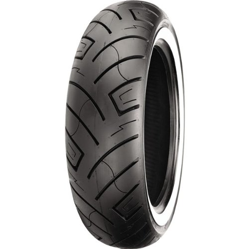 Shinko 777 Series Tire - Rear - 170/80-15 - White Wall , Position: Rear, Tire Size: 170/80-15, Rim Size: 15, Tire Ply: 4, Load Rating: 77, Speed Rating: H, Tire Type: Street, Tire Application: Cruiser 87-4576