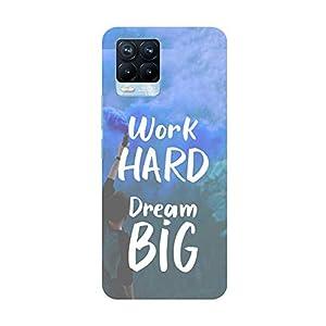 "TRUEMAGNET Premium ""Quote on-Work Hard Dream Big"" Printed Hard Mobile Back Cover for Realme 8 / Realme 8 Pro, Designer…"