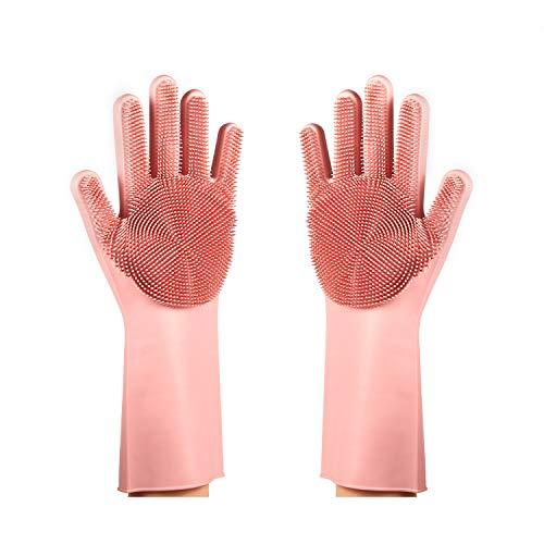 Magic SakSak - Guantes de silicona para fregar platos, guantes reutilizables para lavar platos con estropajos, guantes de...