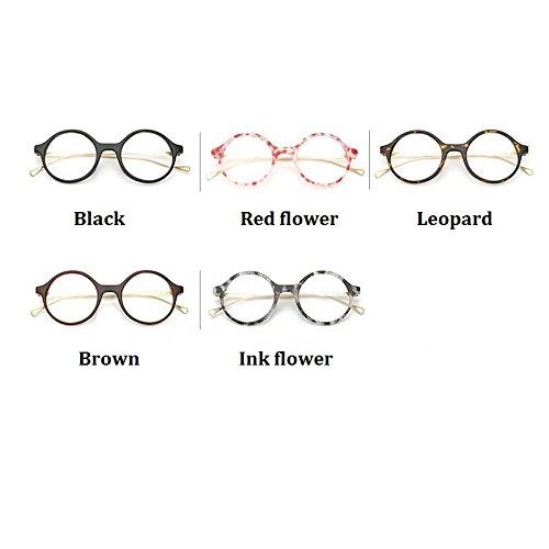 29edd420b1 Tocoss(TM) Retro Fashion Sun Glasses Women Eyewear Vintage Round Clear Lens  Frame Metal Legs High Quality Unisex Plain Glasses Eyeglasses   Black    ...