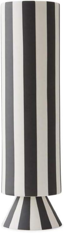 Vaso High Black//White OYOY Toppu 31 x 8,5 cm
