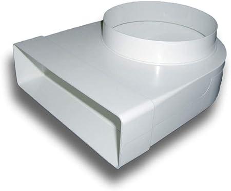 Adaptateur rond//carr/é/ //Ø125/mm//204/mm x 60/mm