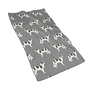 """WELCOMEH Border Collie Blue Merle Dogs Microfiber Towels 27.5"""" X 17.5"""" Polyester Personality Funny Pattern Super Absorbent for Bathroom,Kitchen,Wash Car,Cleaning Towel 2"""