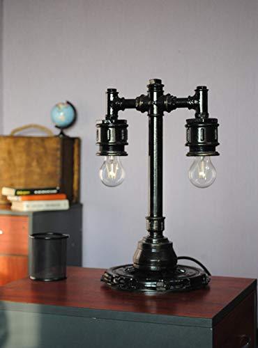 Industrial Lighting Steampunk Lamp Table Lamp Edison Light Vintage Light Pipe Lamp Bedside Lamp Rustic Lighting Loft light steampunk pipe