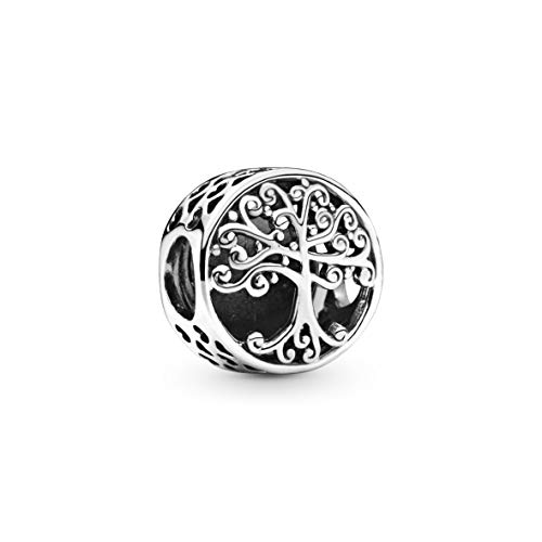 Pandora Moments Women's Sterling Silver Openwork Family Roots Charm Bracelet Charm