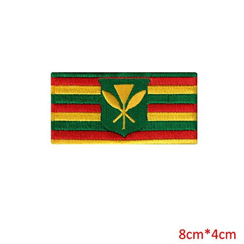 FairyMotion Original Hawaii State Flag Embroidered Iron-On Patch Hawaiian Kanaka Maoli Perfect Patches
