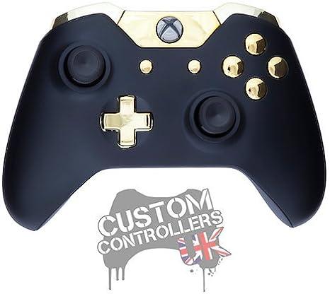 Xbox One Custom Controller - Matte Black & Gold [Importación Inglesa]: Amazon.es: Videojuegos