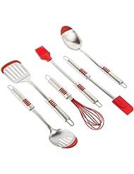 Kitchen Elements Stainless Steel Silicone Tip 6 Piece Utensil Set