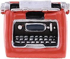 D DOLITY Modelismo de Máquina de Escribir Decoraciones de Muebles para Escala 1/12 Casa de Muñeas - Naranja