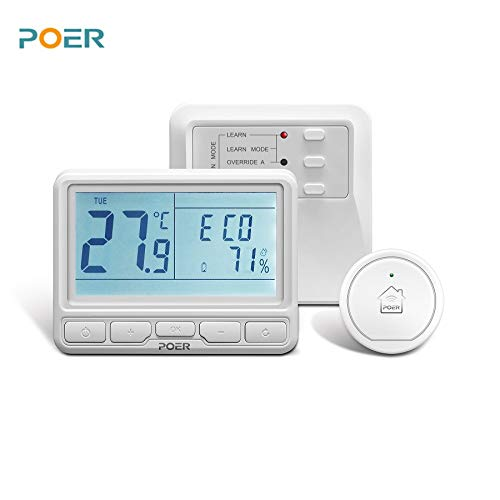 Thermoregulator Programmable Wireless Room Digital Thermostat Temperature Controller for Boiler Warm Floor Water Heating ()