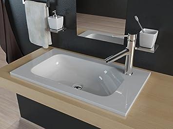 Badmöbel Für Aufsatzwaschbecken kerabad design einbauwaschbecken waschtisch aufsatzwaschbecken für