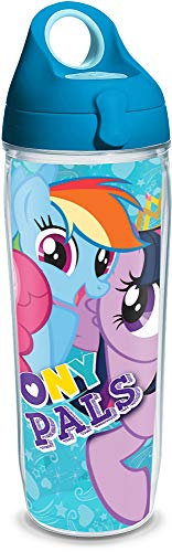 Tervis 1228977 My Little Pony Pals 24oz Water Bottle with Turquoise WB Lid, -