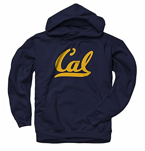 Men's University Of California Berkeley Golden Bears Cal Script hooded Sweatshirt M Navy (Berkeley Sweatshirt Cal)