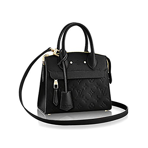 Louis Vuitton Monogram Mini - Authentic Louis Vuitton Empreinte Leather Pont-Neuf Mini Tote Cross Body Handbag Article: M41743 Noir
